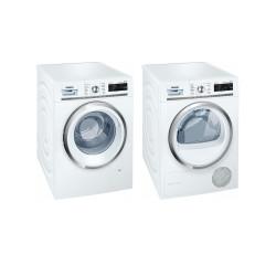 Siemens Set de lavage: WM6HXL90CH Lave-linge + WT7HXK80CH Sèche-linge